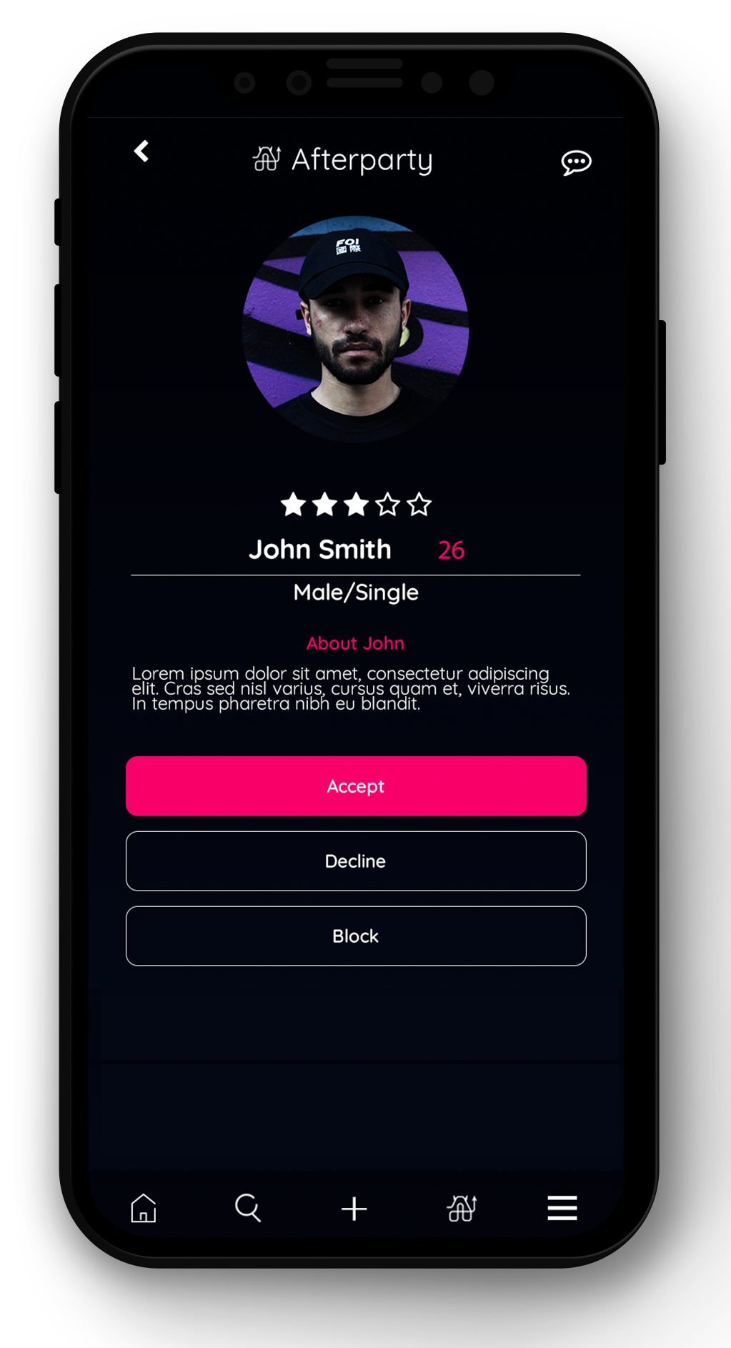 AfterParty mobile app